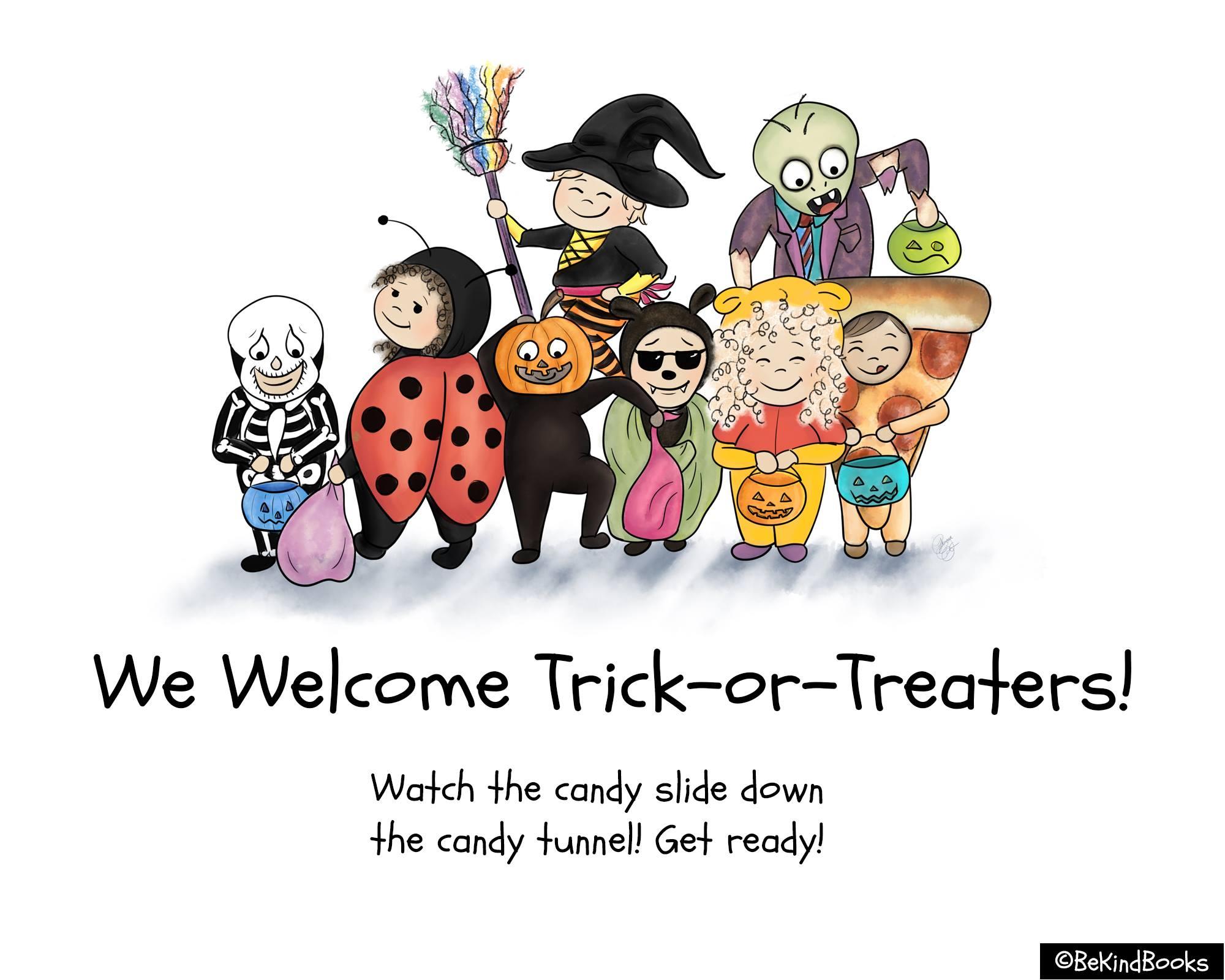 2020 Halloween Trick or Treat Door Signs