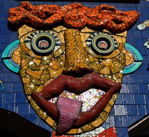 #Mosaik #Tongue out #mosaic #lunapark #melbourne Pamela Irvine
