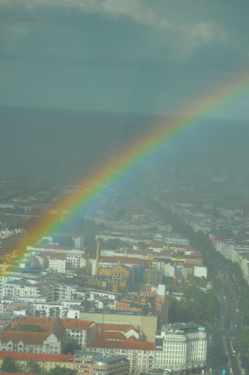 view from TV tower Berlin Rainbow