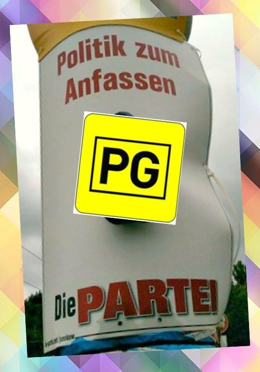 #Kitsch Wahl Werbung Die Partei #Berlin be kitschig blog