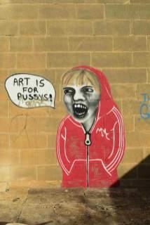 #art is for pussis be kitschig blog malta white rocks street art
