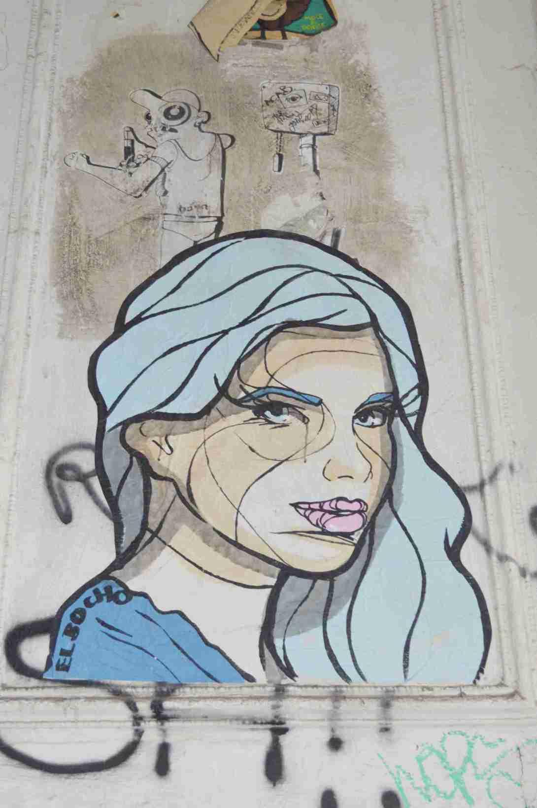 El Bocho Lady Street Art Berlin strassenkunst Prenzlauer Berg street art be kitschig blog