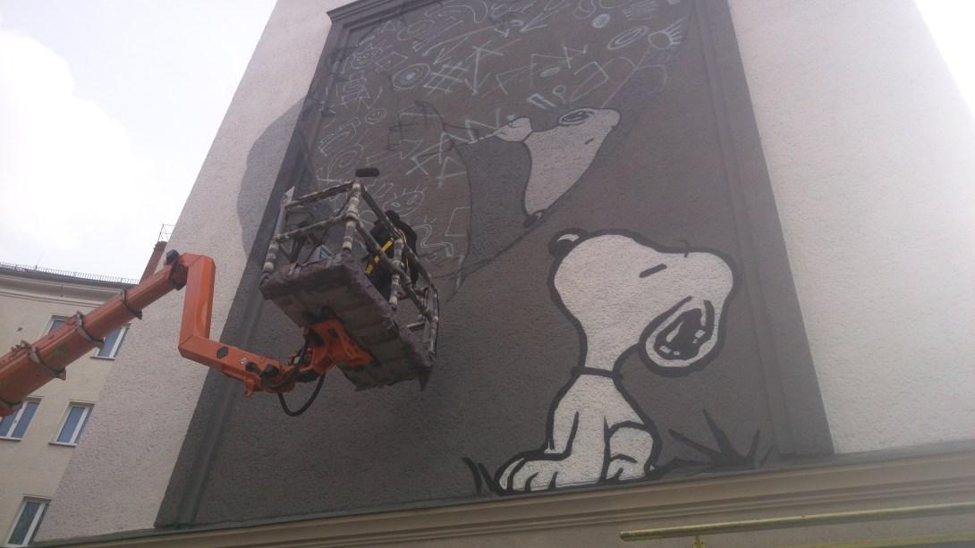 Snoopy Mural Berlin Prenzlauer Berg