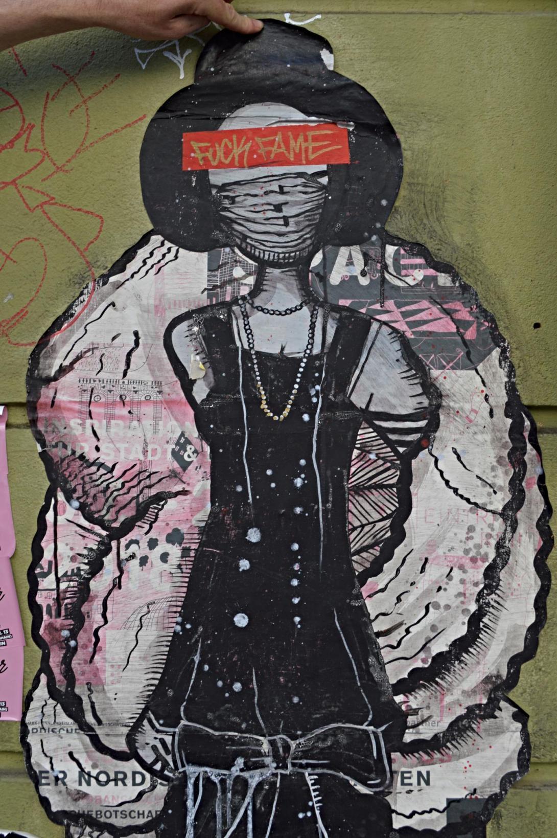 Strassenkunst Berlin Ron Miller fuck fame