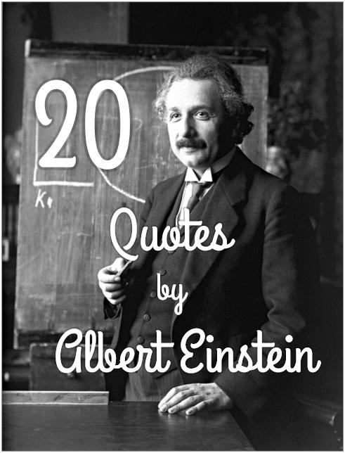 20 Albert Einstein Quotes Motivation Be Kitschig Blog Berlin