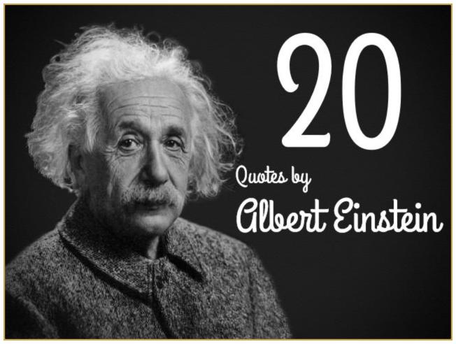 Albert einstein Quotes be kitschig blog berlin