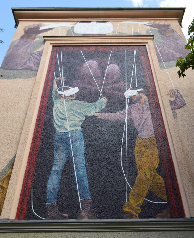 Innerfield Wandbild Strassenkunst Prenzlauer Berg  be kitschig blog  Wandbild streetart