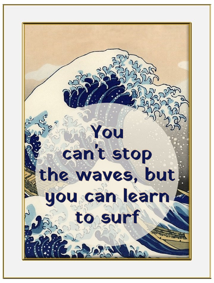 Jon Kabat Zinn Quote be kitschig blog berlin you cant change the wave but you can learn to surf