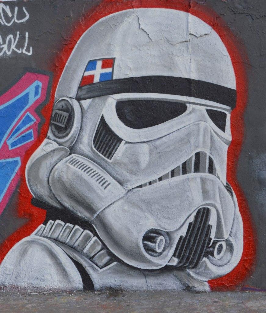 street art graffiti Berlin Mauerpark be kitschig blog eme freethinker caribbean vandals #starwars