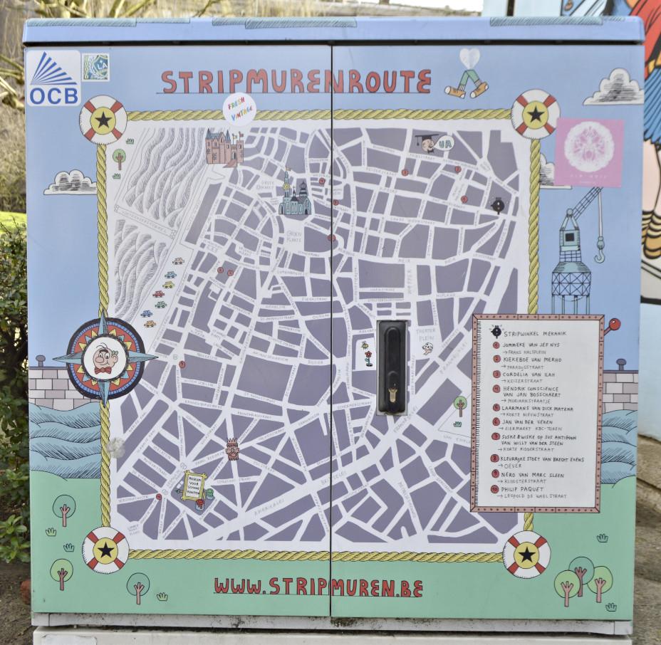 Electrical Box as a map for murals strrtipmuren Belgium Antwerp be kitschig blog streetart