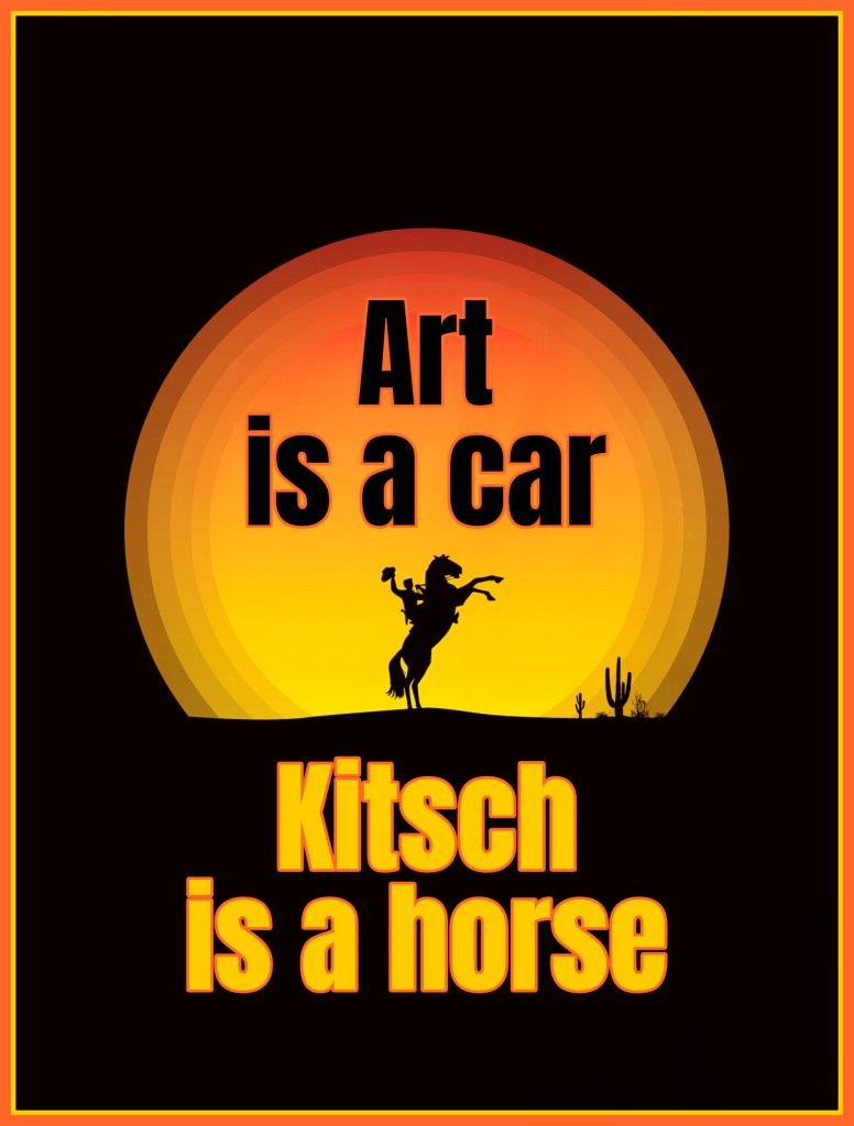 Art is a Car, #kitsch is a horse Odd Nerdrum #quote be kitschig blog Berlin