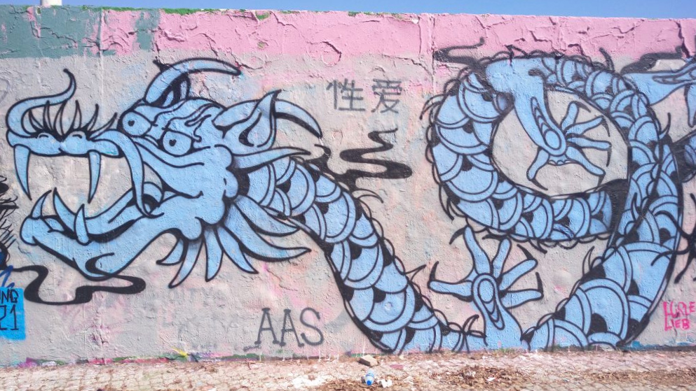 dragon graffiti Berlin Mauerpark #streetart be kitschig blog
