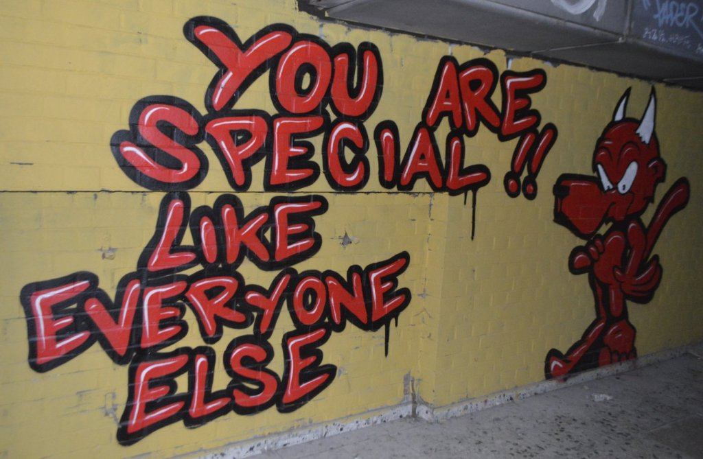 You are special like everyone else graffity streetart Berlin