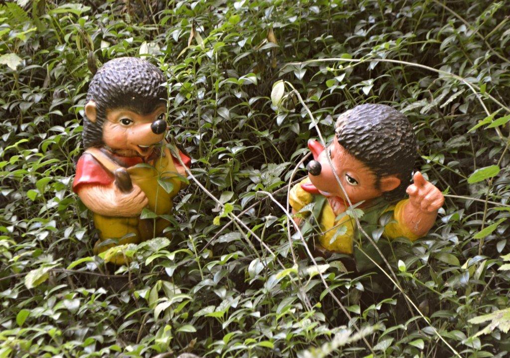 Unusual Garden Gnomes ungewöhnliche Gartenzwerge bekitschig blog Trusetal Zwergenpark Mecki