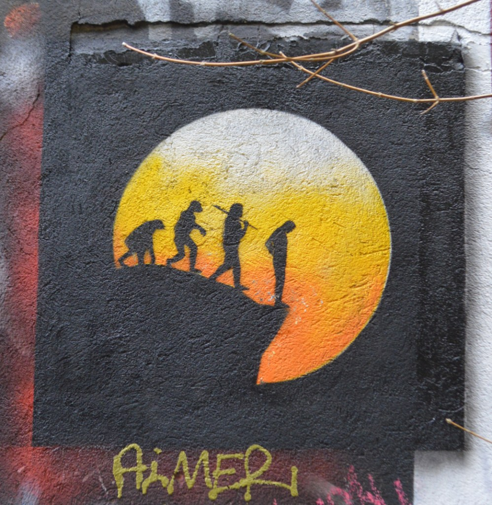 Strassenkunst be kitschig blog Otto Schade De-Evolution