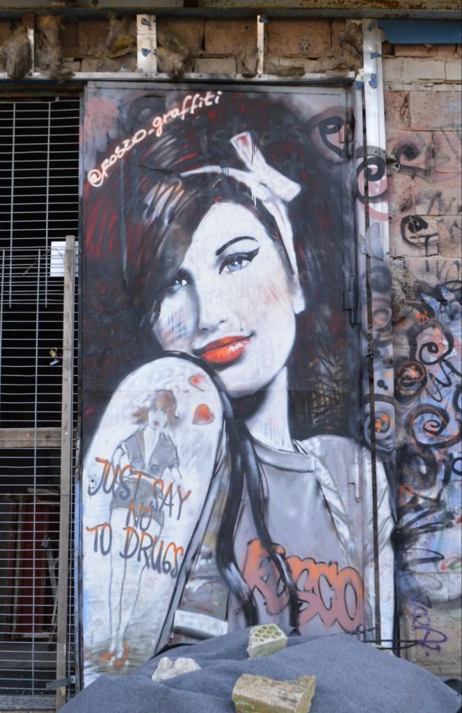 Amy Winehouse  graffiti by Rosco Teufelsberg Berlin