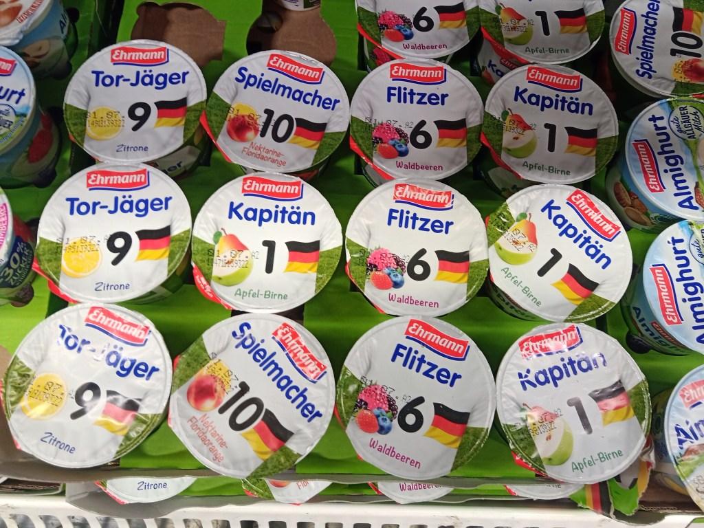 Fußball Joghurt