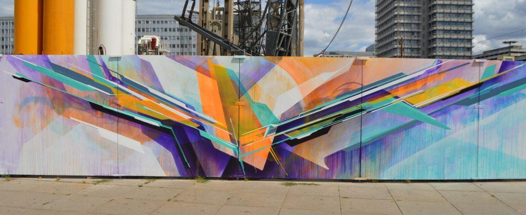 Kunstprojekt Baustelle Berlin Alexanderplatz - street art mural