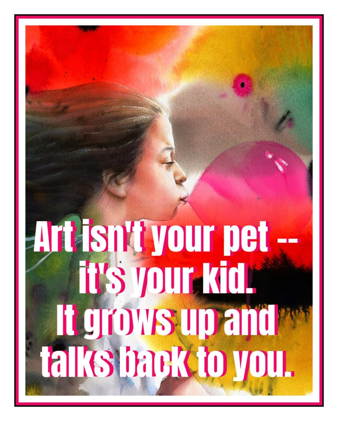 All worthy work is open to interpretations the author did not intend. Art isn't your pet -- it's your kid. It grows up and talks back to you. Joss Whedon #quote bekitschig.blog