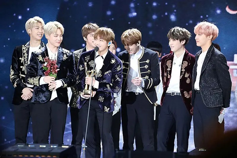The top kpop BTS group