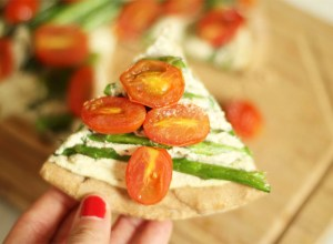 pizza vegana con queso de soja