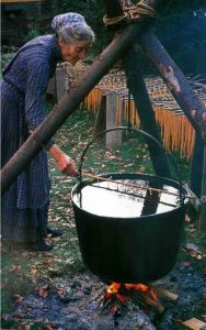 dipping candles – I did that at her place. Haven't every burned them – they ar ...