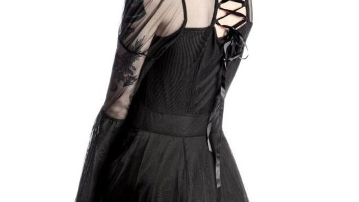 KILLSTAR Bound By Blood Chiffon Dress [B]