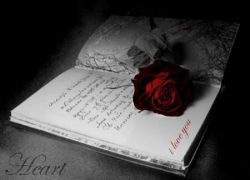 Gothic Book Of Love – book, dark, gothic, rose