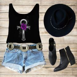 Purple Rose Ankh
