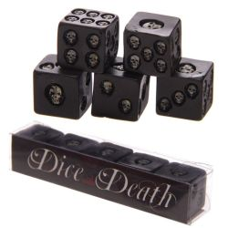 Set of 5 Black Skull Dice £9.00 plus postage Made from resin our skulls are fun and gruesome, an ...