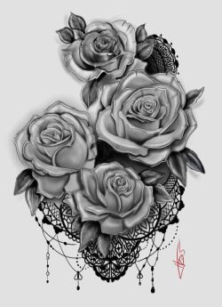 My Rose and Lace Tattoo design
