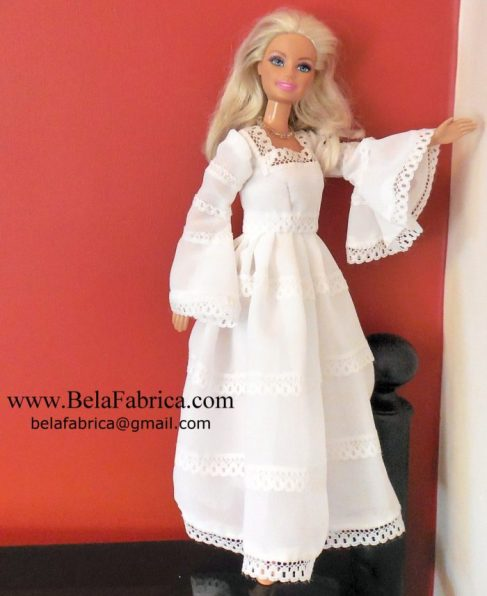 Spanish Wedding Dress Replica in Miniature