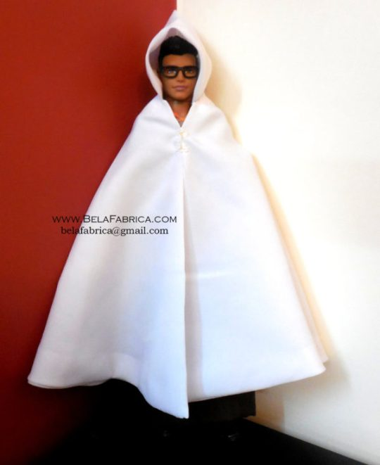 Miniature Replica of Male Algerian outfit- Burnous traditional kabyle for men