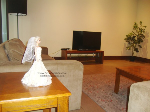 Miniature Replica on Display in the living room