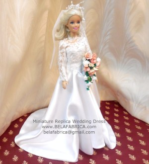Miniature Replica Wedding Dress Gift For Wife Bride Unique Anniversary Present