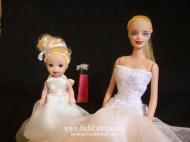 Replica Flower Girl Dress Ivory In Miniature