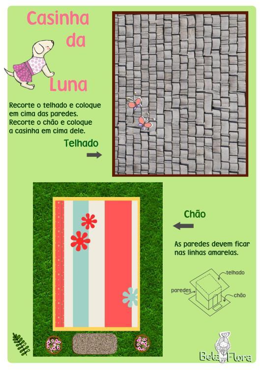 casinha Luna roof