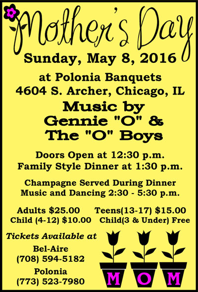 Mother's Day Dance at Polonia Banquets