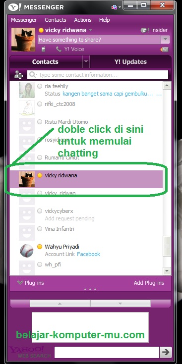 cara chatting di yahoo messenger