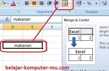 Cara Membuat Format Alignment Worksheet Microsoft Excel 2003 2007 2