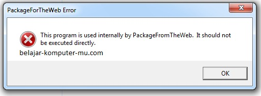 Cara Mengatasi Program Used Internally packagefortheweb ketika Install Aplikasi