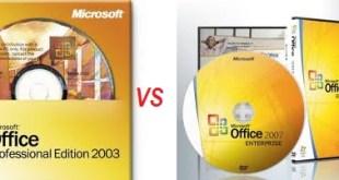 Perbedaan Microsot Office 2003 dan 2007
