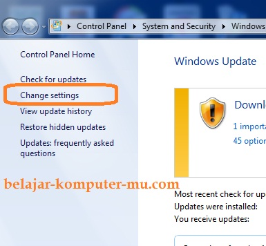 cara mematikan update windows seven 7