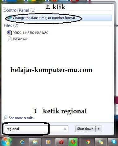 cara mengganti setting angka indonesia excel windows 7