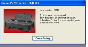 Cara mengatasi error number 5200 printer Canon Pixma iP2770