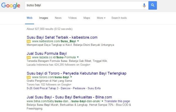 searching di google