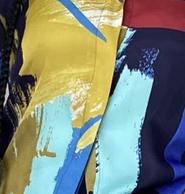 Joan short set - blue abstract