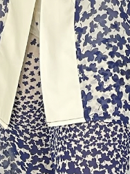 Belle set- blue and cream abstract