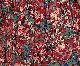 Sansa Dress - Red and green