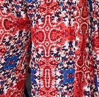 Kitay Kimono - red and blue abstract